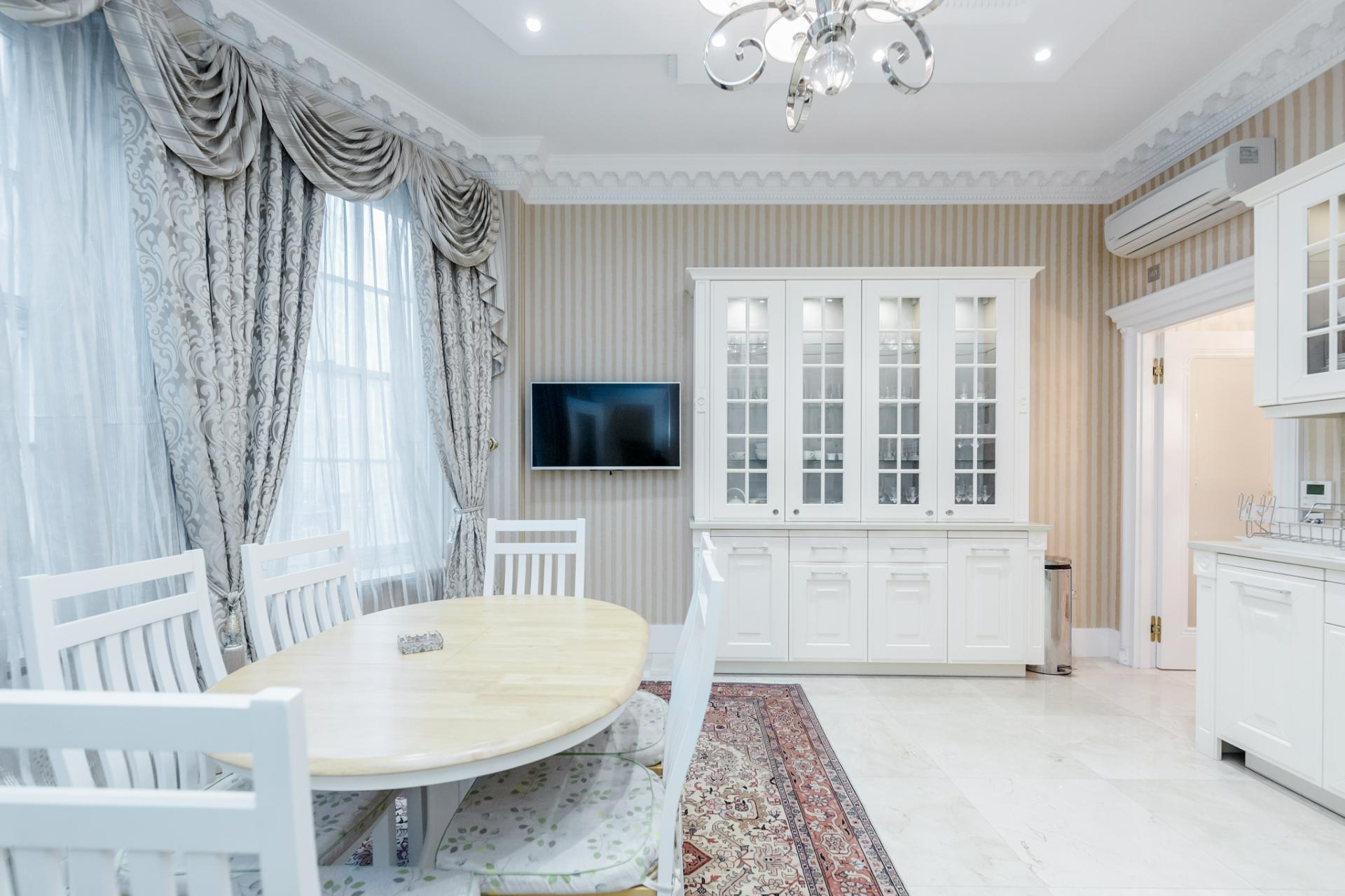 Dining area at Grosvenor Square Apartment, Mayfair, London