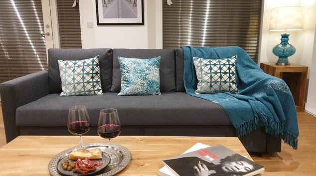 Living area at Riverside Boutique Apartment, Lower Weston, Bath
