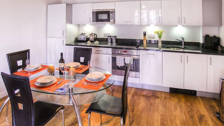 Stylish kitchen in Park West Apartments