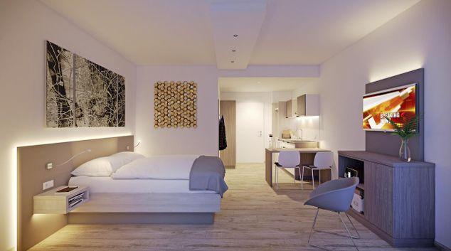 Living space at Squaresville München West Apartments, Germering, Munich
