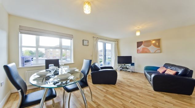 Stunning living area in Woodgate Court Apartments