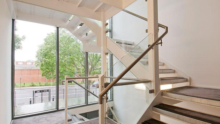Stairwell at Native Camden Apartments
