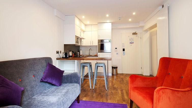 Bright living area in Native Camden Apartments
