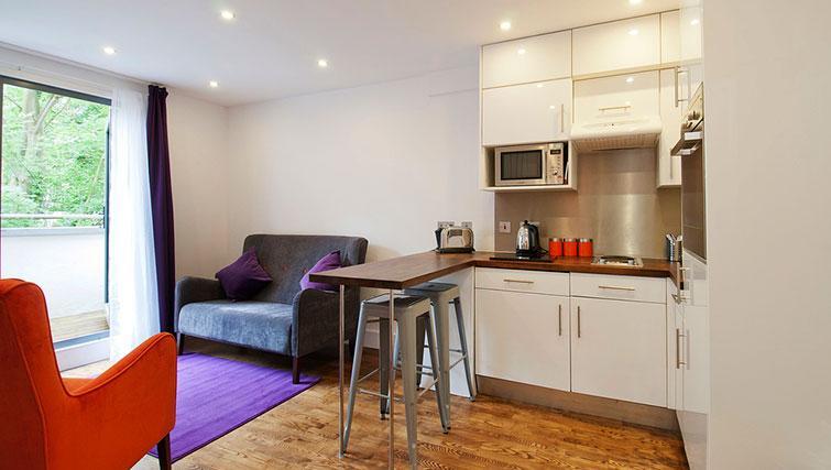 Living area at Native Camden Apartments