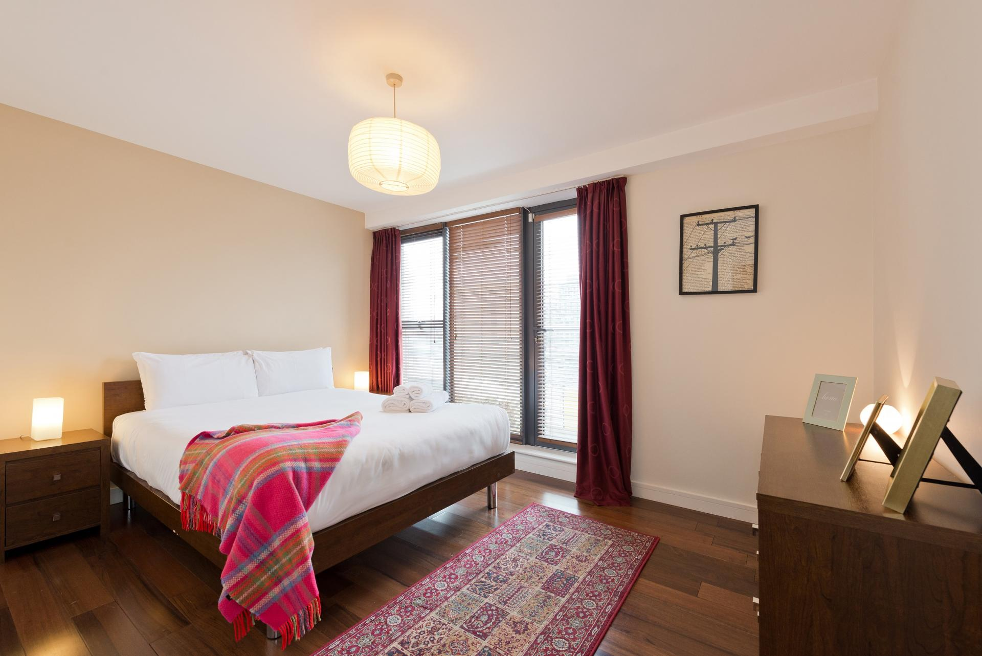 Bed at Butlers Court Apartments, North Wall, Dublin