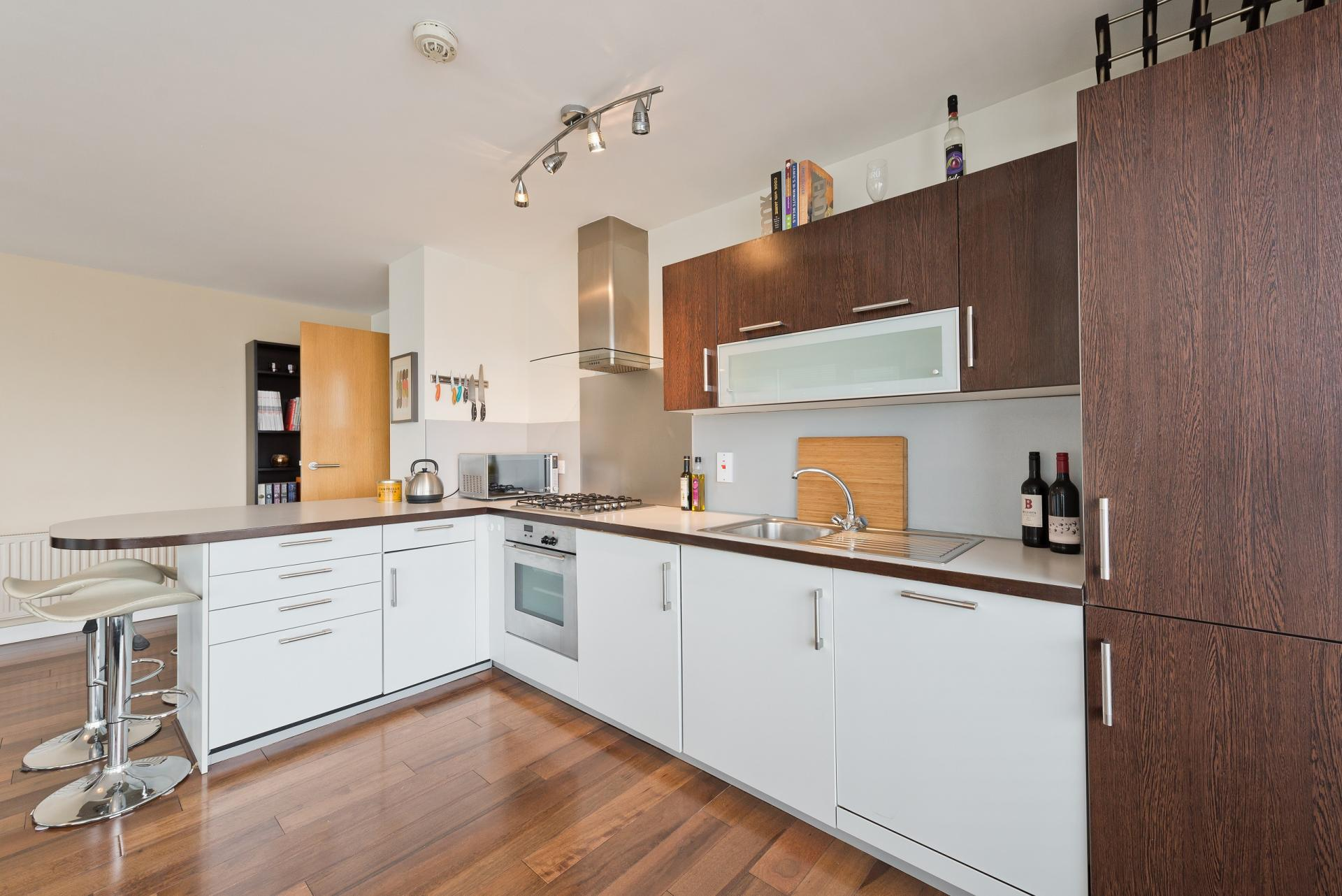 Kitchen at Butlers Court Apartments, North Wall, Dublin