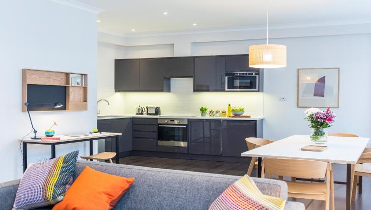Modern kitchen area atNative Fenchurch Street Apartments
