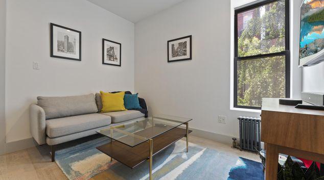 Living area at East Village Apartment, Manhattan, New York
