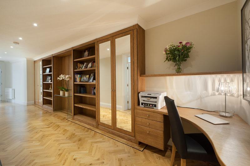 Work desk at Cornwall Gardens Apartment, Kensington, London