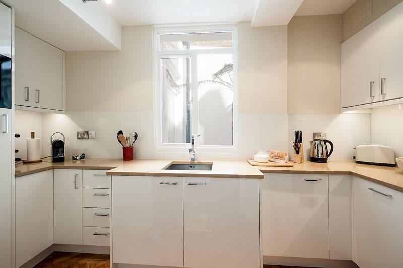 Kitchen at Cornwall Gardens Apartment, Kensington, London