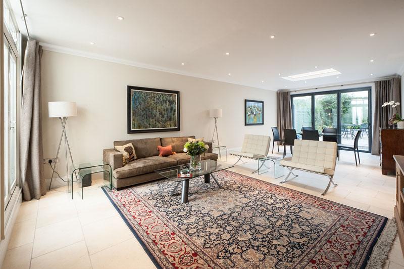 Lounge at Cornwall Gardens Apartment, Kensington, London