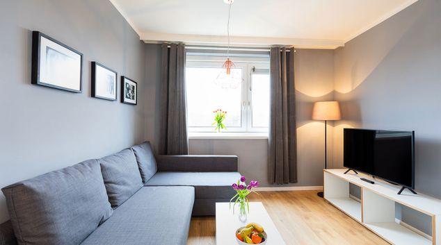 Living room at Boardinghouse St Pauli Apartments, Altona, Hamburg