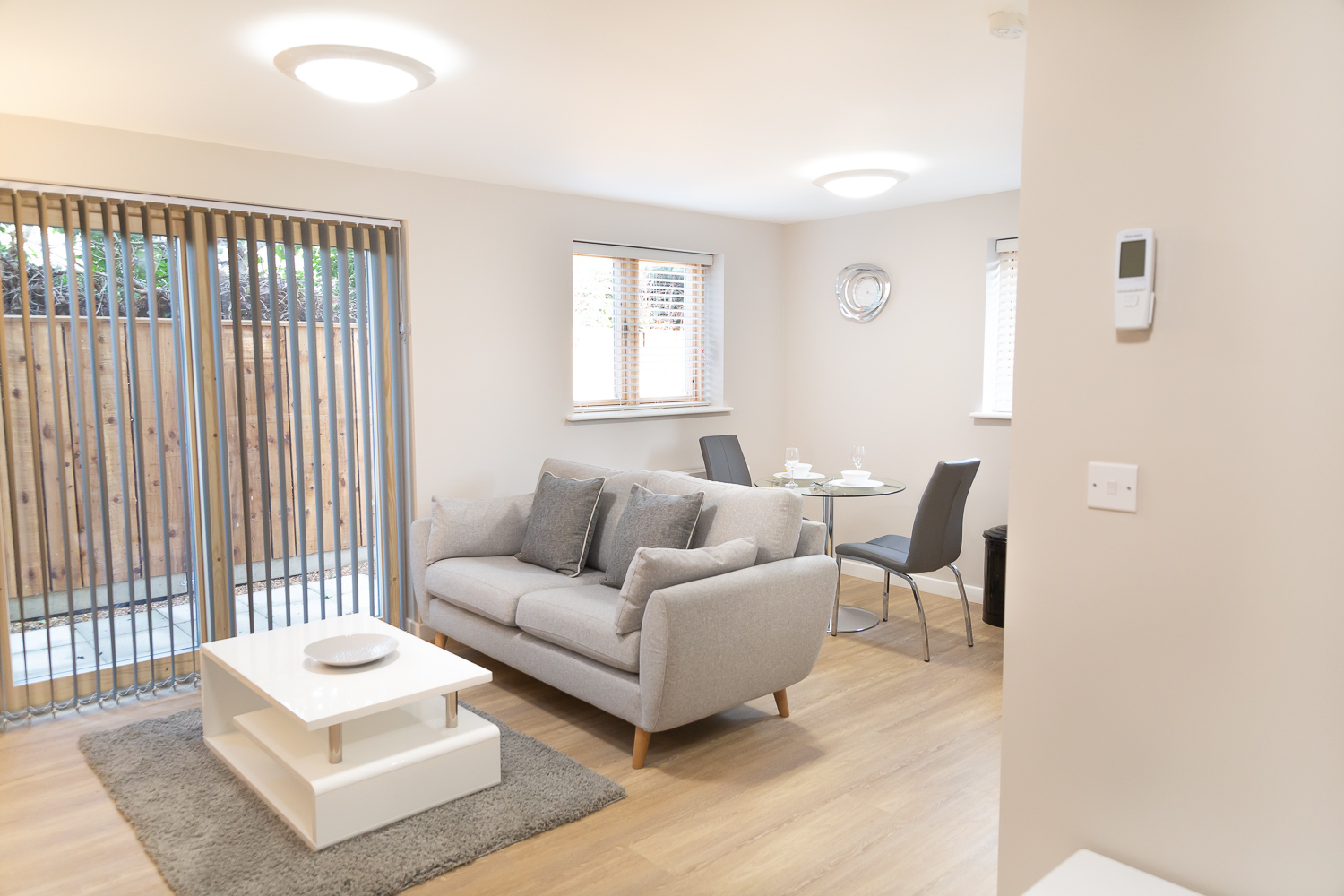 Living area at Hinton House Apartments, Mill Road, Cambridge