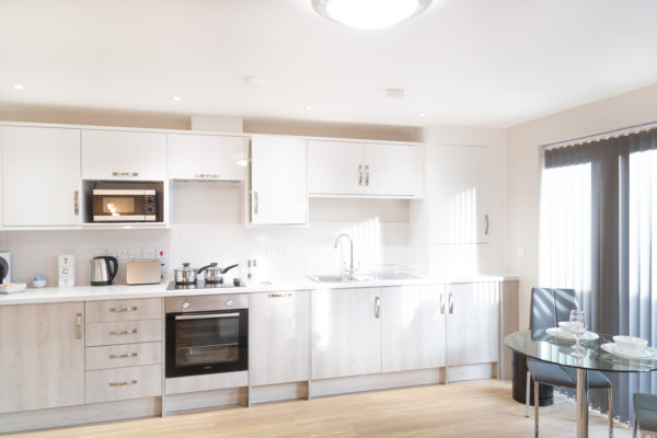 Kitchen at Hinton House Apartments, Mill Road, Cambridge