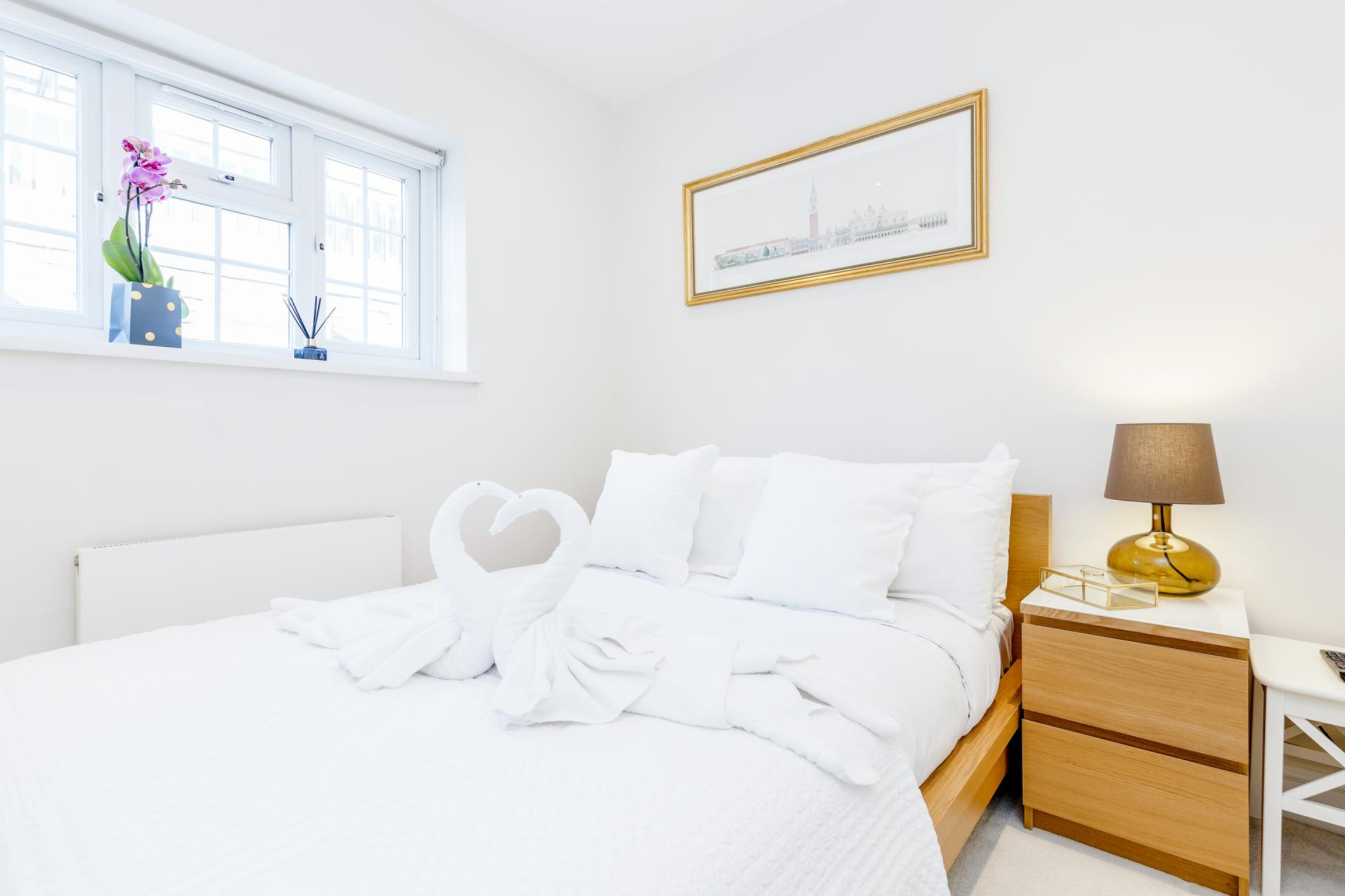 Bed at Mayfair House, Mayfair, London