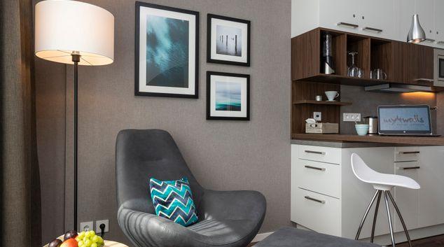 Living area at City Nord Apartments, City Nord, Hamburg