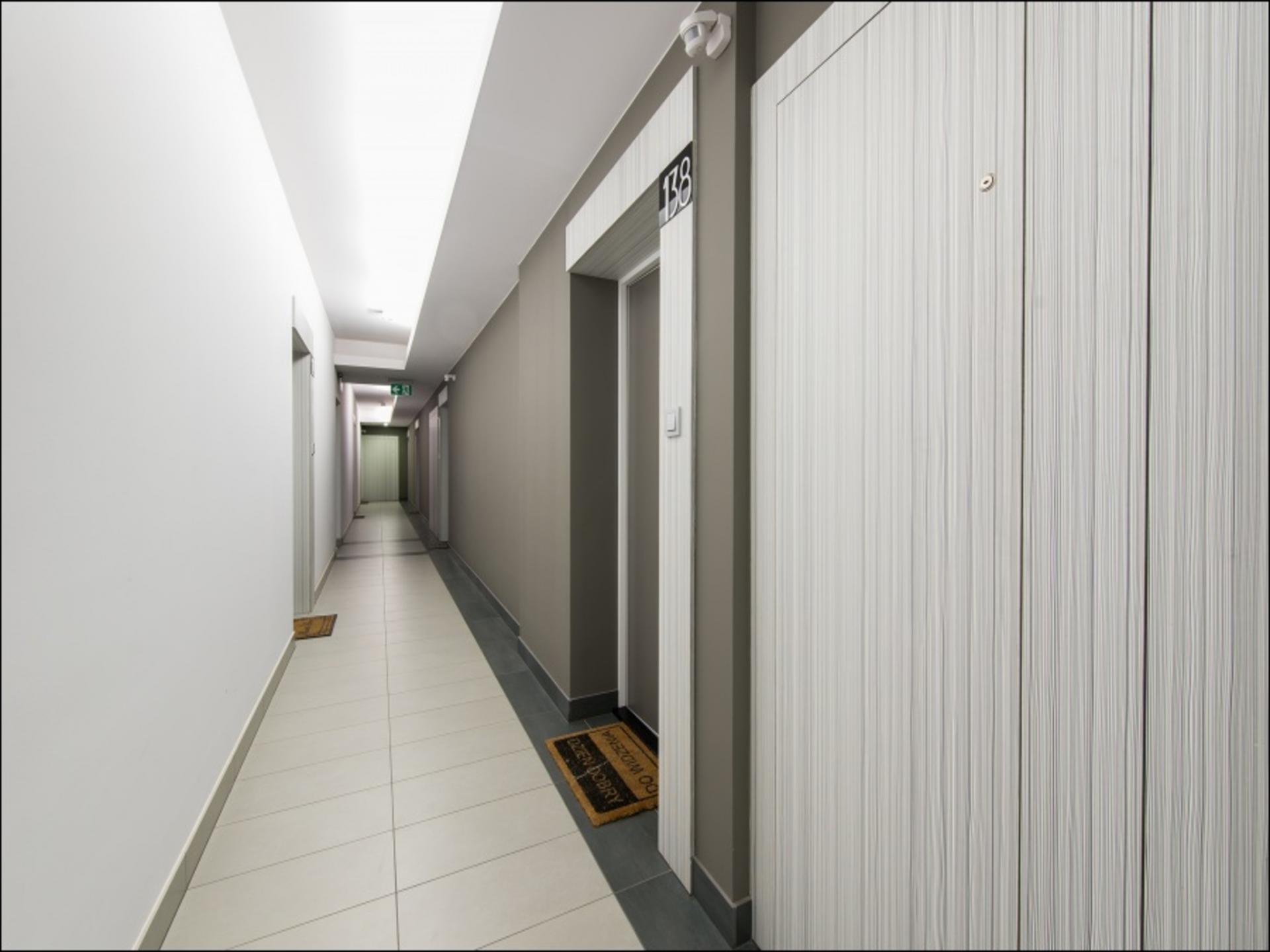 Hall at Klobucka Street Apartment, Wyczółki, Warsaw