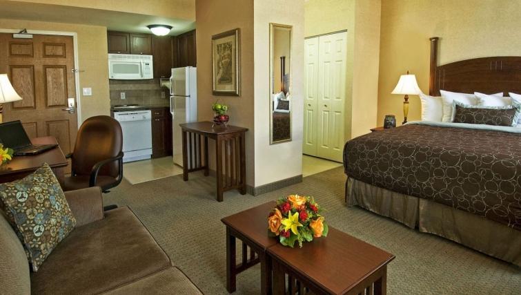 Smart living area in Staybridge Suites Oakville Burlington