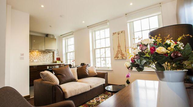 Lounge at King Charles Terrace, Whitechapel, London