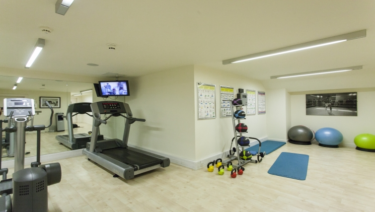 Extensive gym in Discovery Dock Apartments