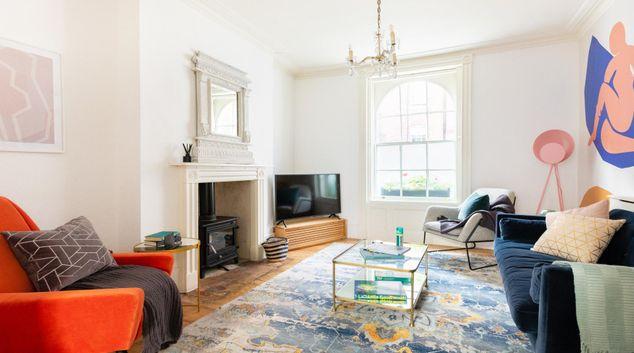 Living room at The Euston Square Escape, Fitzrovia, London