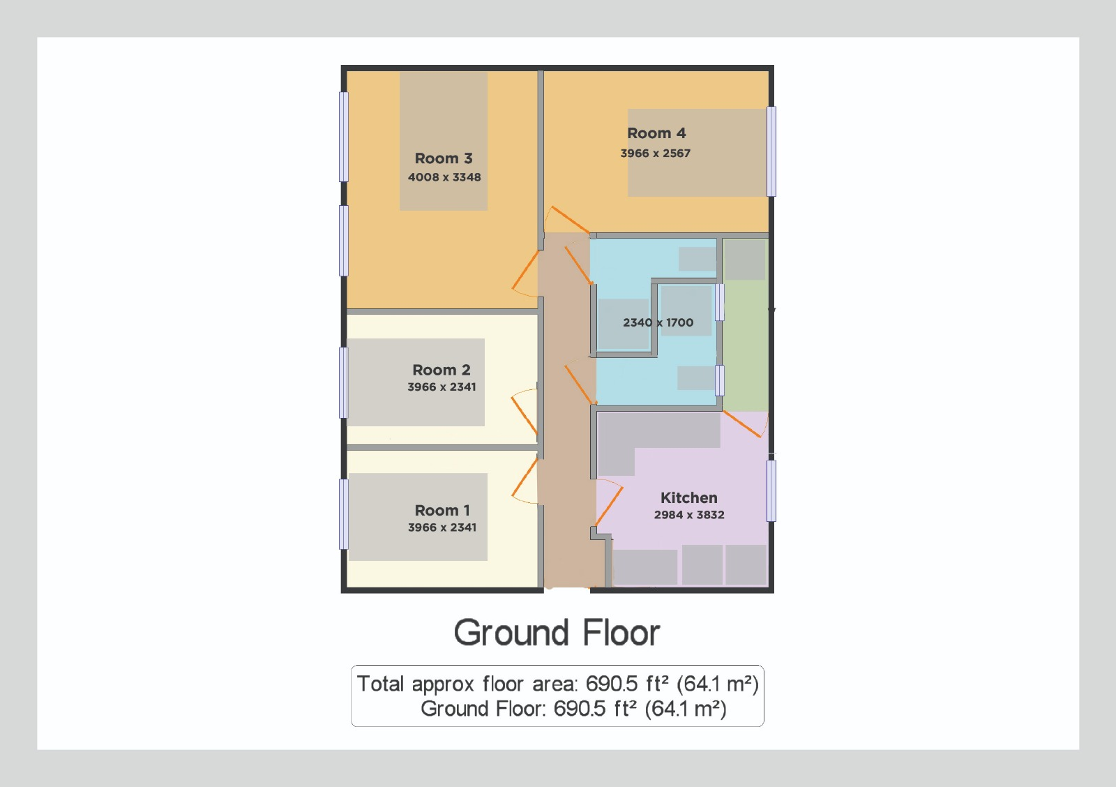 Floor Plan at Clapham North Serviced Apartment, Clapham, London