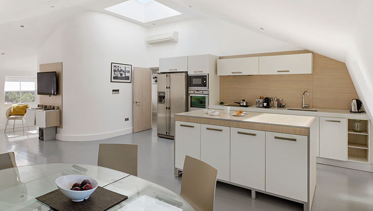 Modern kitchen at Nevern Place Aparthotel