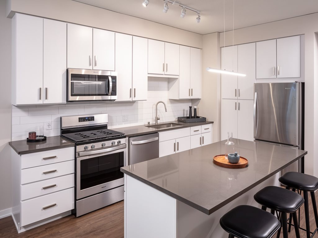 Kitchen at 365 Nicollet Corporate Housing, Centre, Minneapolis