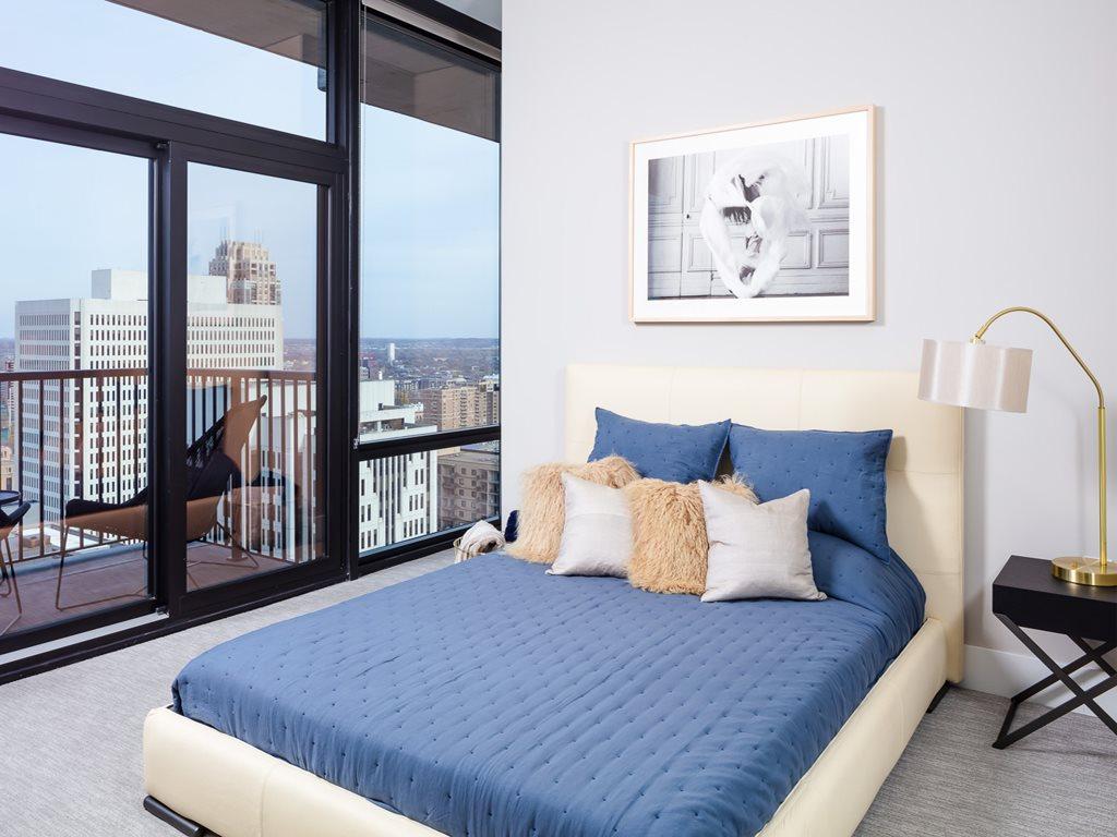 Bedroom at 365 Nicollet Corporate Housing, Centre, Minneapolis