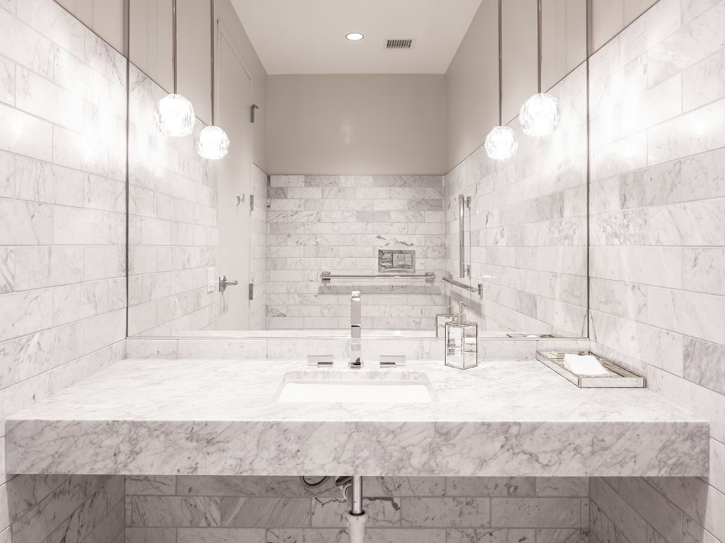 Bathroom at 365 Nicollet Corporate Housing, Centre, Minneapolis