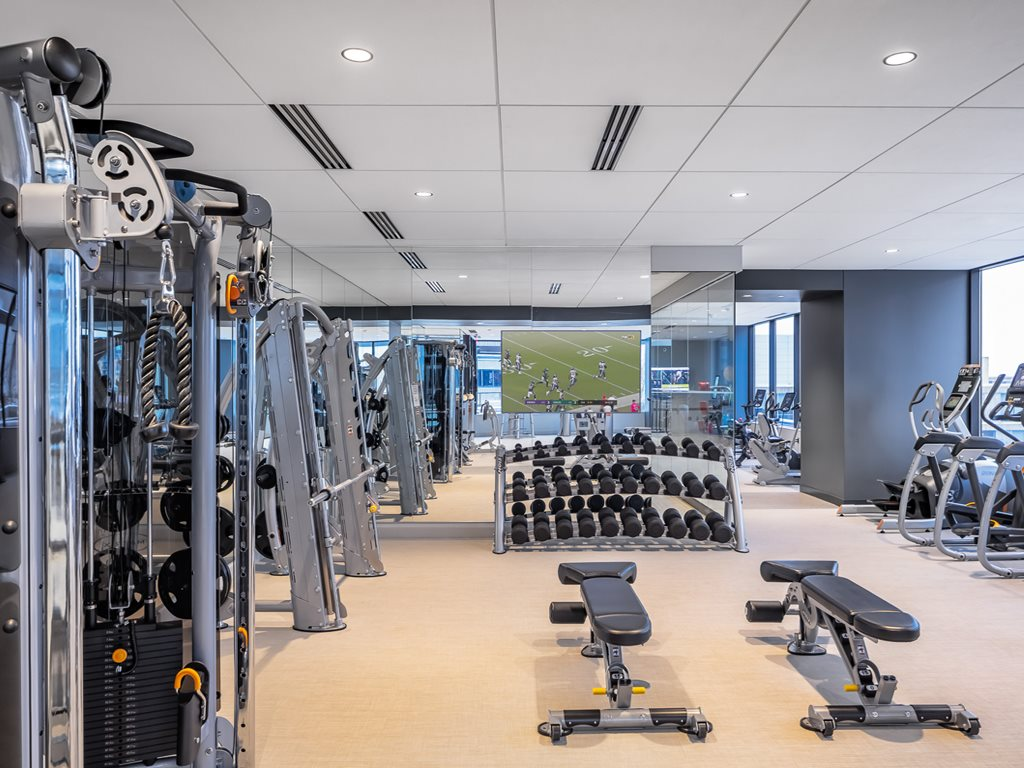 Gym at 365 Nicollet Corporate Housing, Centre, Minneapolis