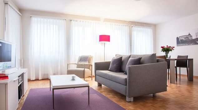 Living room at City Stay Apartment, Centre, Schaffhausen
