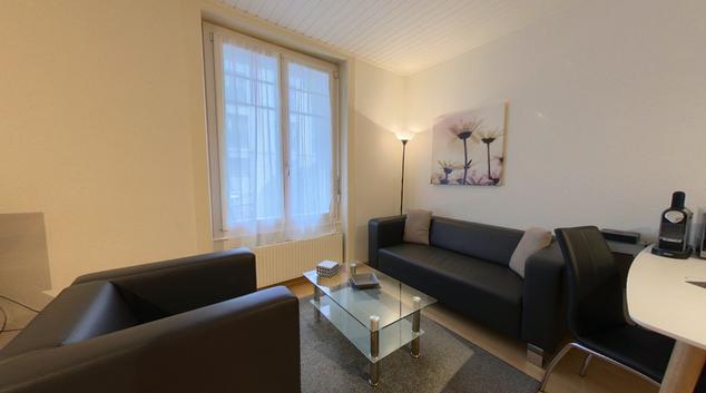 Living area at Floreal Apartment, Centre, Lausanne