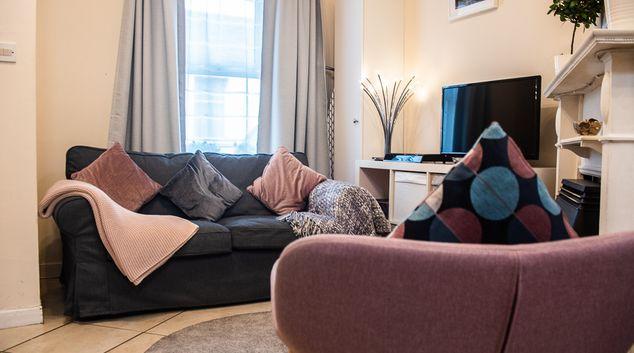 Living area at Harty Place, Portobello, Dublin