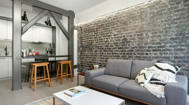 Living Room at 1025 Sutter Street Apartment