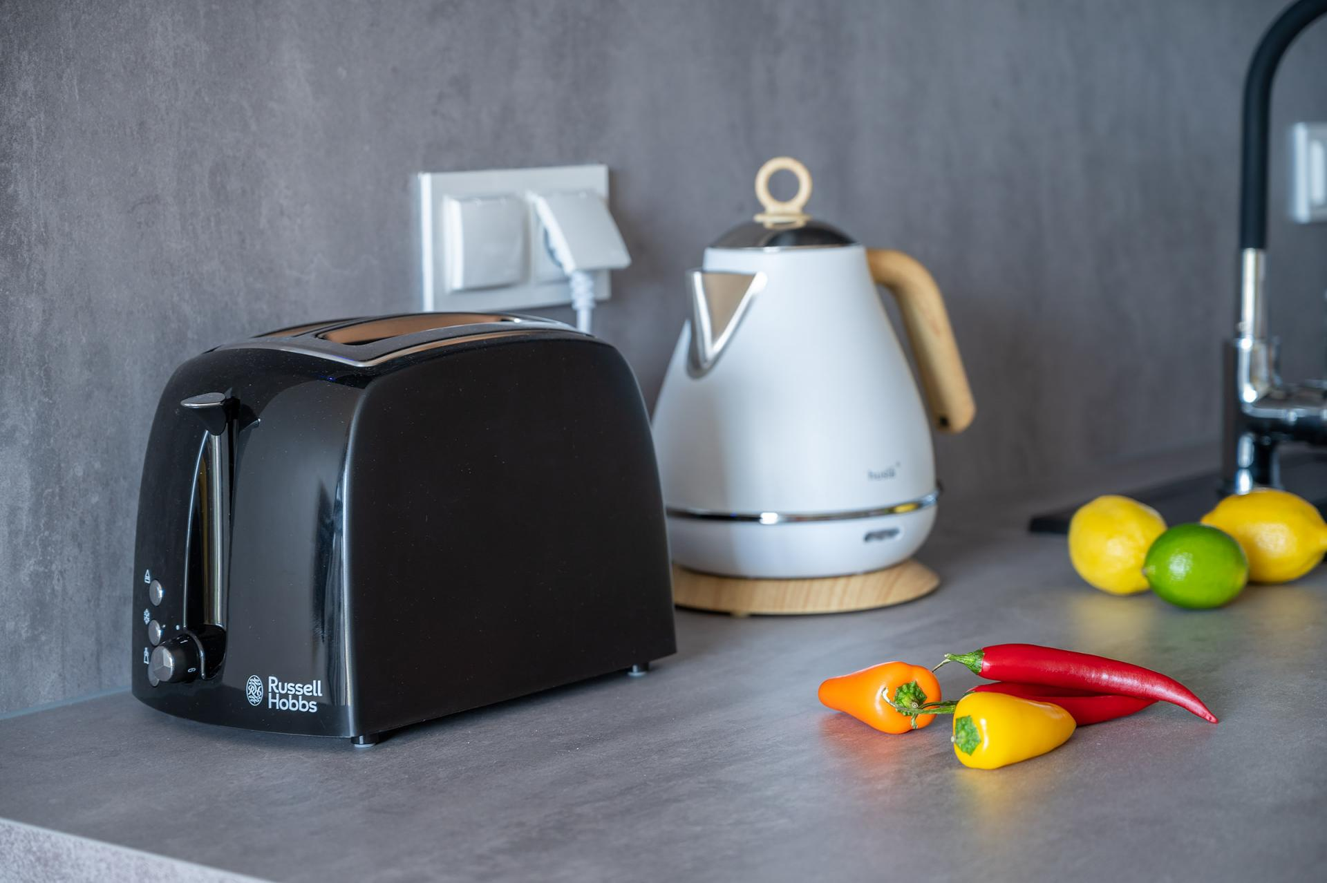 Toaster at Cybernetyki Apartments, Sluzewiec, Warsaw