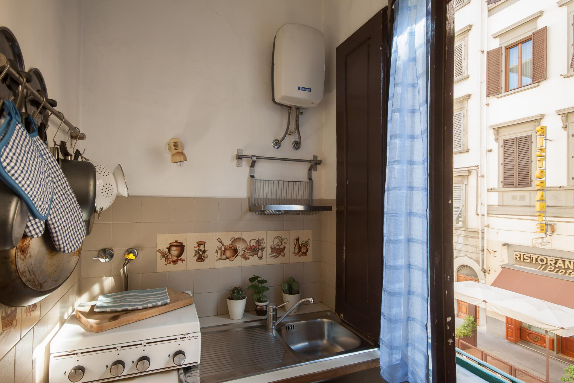 Kitchen area at Borgo Ognissanti Apartment, Centre, Florence