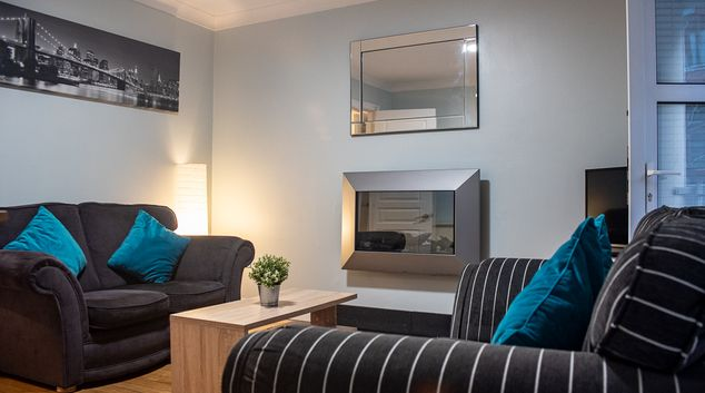 Living area at Windmill Lane Apartment, Docklands, Dublin