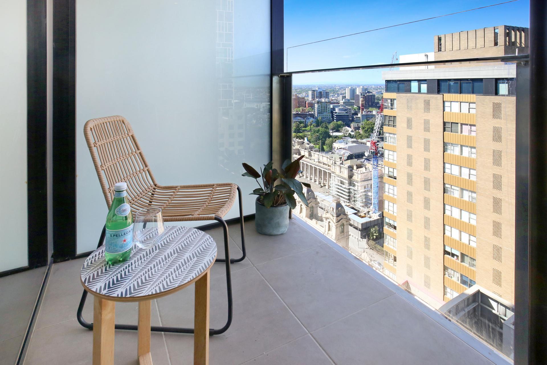 Balcony at Little Collins Street Apartments, Centre, Melbourne