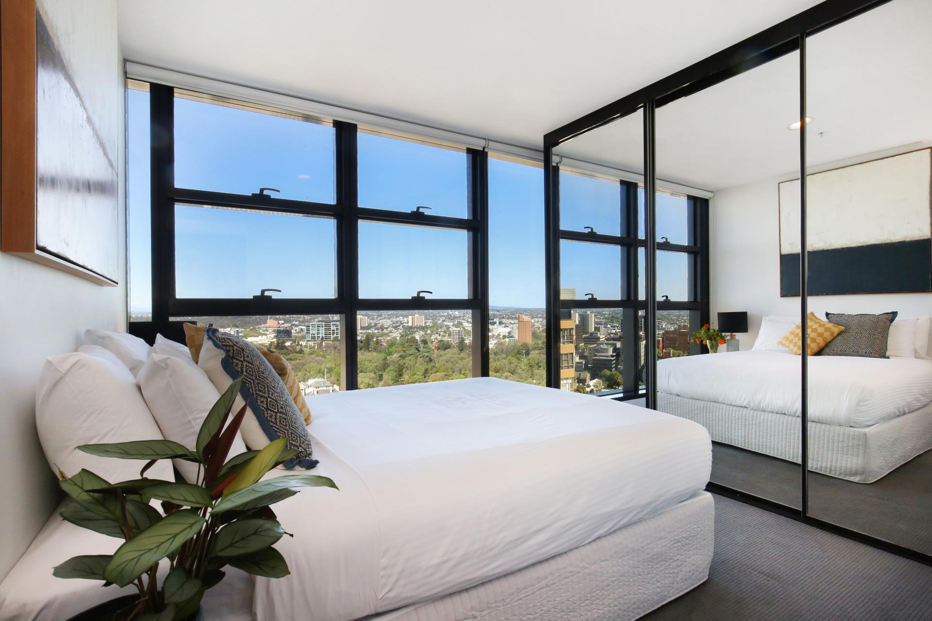 Bedroom at Little Collins Street Apartments, Centre, Melbourne