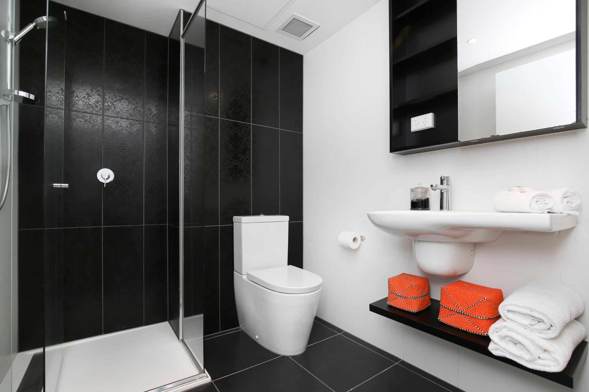 Bathroom at Little Collins Street Apartments, Centre, Melbourne