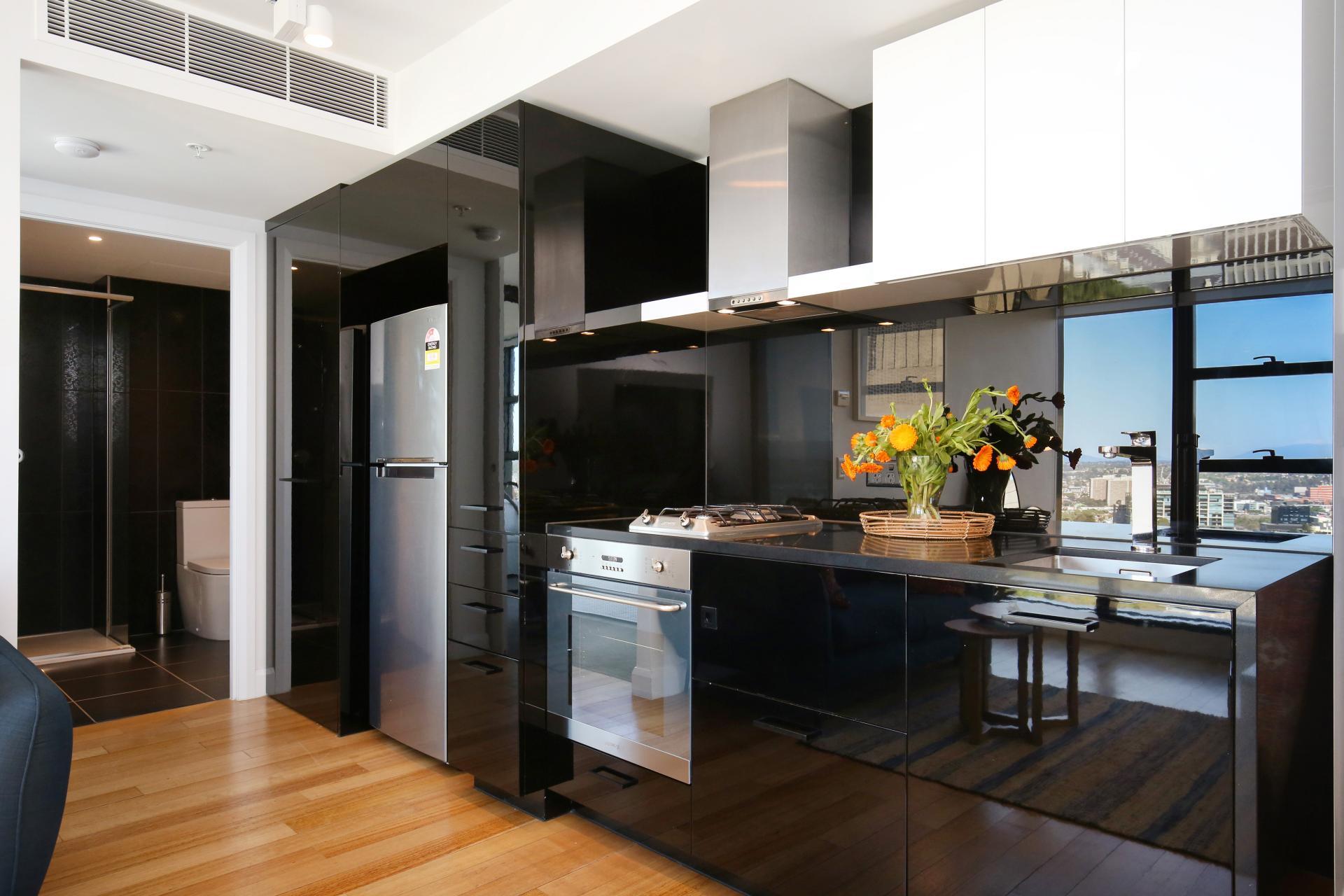 Kitchen at Little Collins Street Apartments, Centre, Melbourne