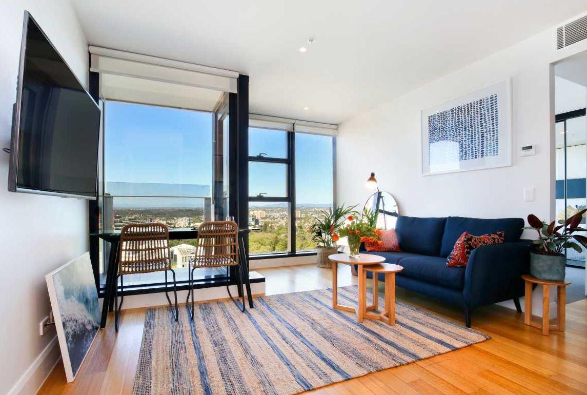 Living area Little Collins Street Apartments, Centre, Melbourne