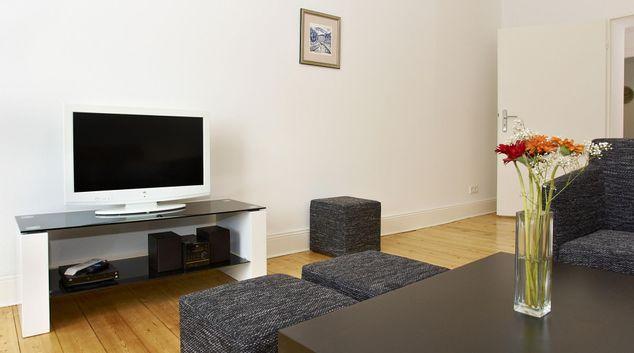 Living room at Weimarische Apartment, Wilmersdorf, Berlin