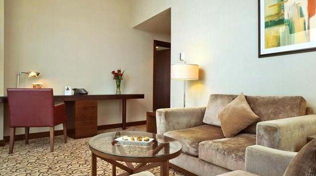 Sophisticated living area in Khalidiya Palace Rayhaan Apartments