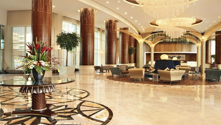 Stunning lobby of Khalidiya Palace Rayhaan Apartments
