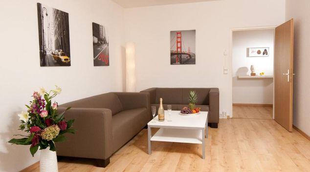 Living area at Brandenburger Tor Apartment, Centre, Berlin