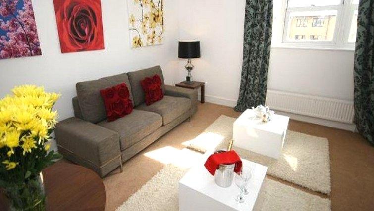 Living area in Coronation Street Apartment