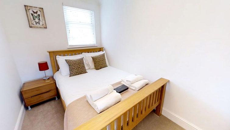 Bedroom at Coronation Street Apartment