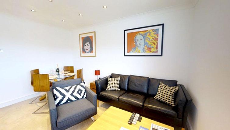 Sofa at Coronation Street Apartment
